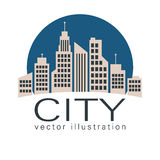 City logo, vector building web icon Royalty Free Stock Photography
