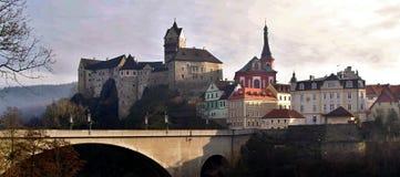 City Loket nad Ohří, Czech Republic Royalty Free Stock Photography