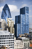 City of London. One of the leading centres of global finance.this view includes :Tower 42 Gherkin,Willis Building, Lloyd`s of London stock image