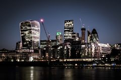 The City of London and the Thames stock photo