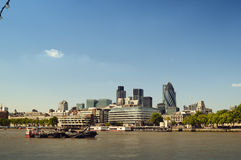 City of London. Skyline. (Tower 42, Willis Building, Aviva, Gherkin, Tower of London Royalty Free Stock Image