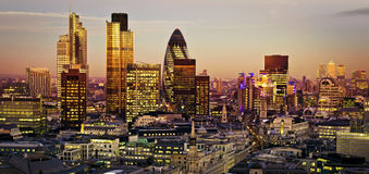 City of London. One of the leading centres of global finance.This view includes Tower 42 Gherkin,Willis Building, Stock Exchange Tower and Lloyd`s of London and Stock Photography