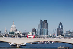 City of london. London city with st pauls and waterloo bridge royalty free stock photography