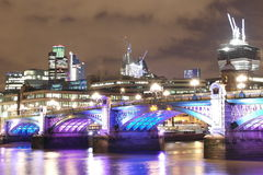 City of london. Night shoot of the ever growing skyline of london city Royalty Free Stock Images