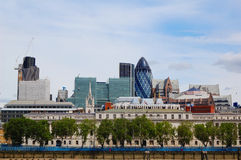 The city of London. Skyline of the City, the London financial center Royalty Free Stock Image