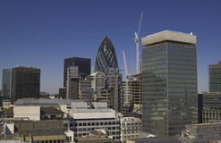 The City of London. Wide-angle shot of The City of London Stock Photo