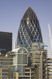 The City of London. Gherkin Tower Stock Image