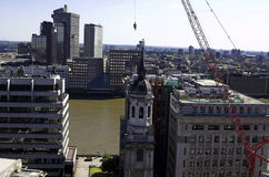 The City of London. Wide-angle shot of The City of London Stock Photography