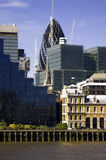 The City of London. Wide-angle shot of The City of London Royalty Free Stock Image