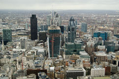 City of London from Above. View of the skyscraper buildings in the City of London financial district Stock Images
