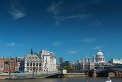 City of London, from across the River Thames, London, England, UK, Europe Royalty Free Stock Photos