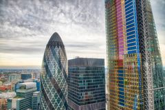 City of London. Aerial view of modern buildings. Business and co. Rporate concept stock photography