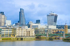 City of London at bright day Royalty Free Stock Photography