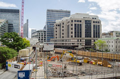 City of London building site Stock Photo