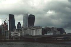 City of London Business Area Skyline. Royalty Free Stock Photo