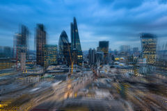 City of London business aria, motion effect photo Stock Photos