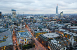 City of London, business and banking area. London's panorama at sun set. Stock Photography