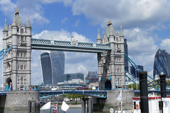 City of London cityscape with Tower Bridge Stock Photo
