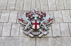 City of London Crest at Guildhall. The City of London Crest at guildhall in London Royalty Free Stock Photos