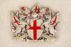 City of London Crest. The City of London Crest on Guildhall in London Stock Photography