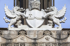 City of London Crest Sculpture at Guildhall in London Stock Photo