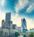 City of London at dusk Stock Image