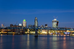 City of London at Dusk Royalty Free Stock Photography