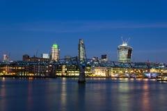 City of London at Dusk Royalty Free Stock Photography
