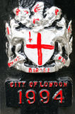 City of London emblem. On a streeet post Royalty Free Stock Image