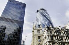 City of London finacial buildings royalty free stock photo