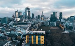 City of London financial district skyline royalty free stock photos