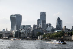 The City London financial District skyline river Stock Image