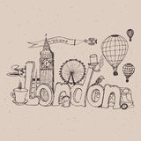 City London. Freehand sketch Stock Image