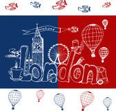 City London. Freehand sketch Royalty Free Stock Image