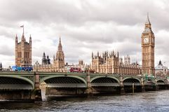 City of London and HMS Belfast warship Royalty Free Stock Photo