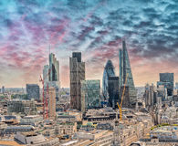 City of London. Leading center of global finance Royalty Free Stock Image