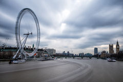 City of London with London Eye Royalty Free Stock Photo
