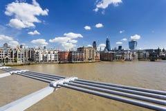 City of London from Millennium Bridge Stock Images