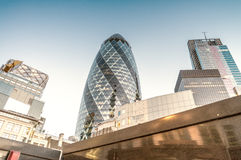 City of London. Modern and old architecture.  Royalty Free Stock Photography