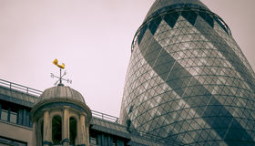 City of London. Modern and old architecture. United Kingdom Stock Photography