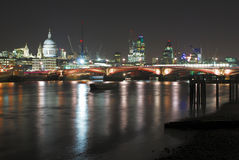 City of London at night Stock Images