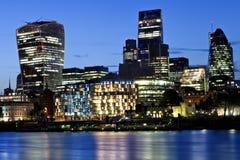 City of London night cityscape Royalty Free Stock Photo