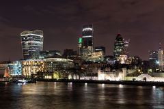 City of London at night Stock Photo
