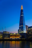 City of London at night The Shard. London The Shard  River Thames  England Europe Royalty Free Stock Images
