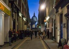 City of London at night stock image
