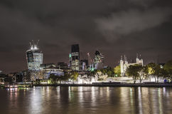 City of London at night Royalty Free Stock Image