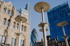 City of london office buildings gherkin uk Stock Photo