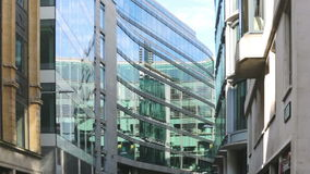 City of London, office buildings windows stock footage