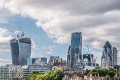 City of London. One of the leading centers of global finance Stock Photography