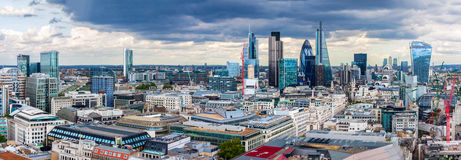 The City of London. Panorama Royalty Free Stock Photography